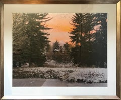 """""""Winter Sunrise"""" by Anne Muller, Photographic print - foil on Yupo paper, 2020"""