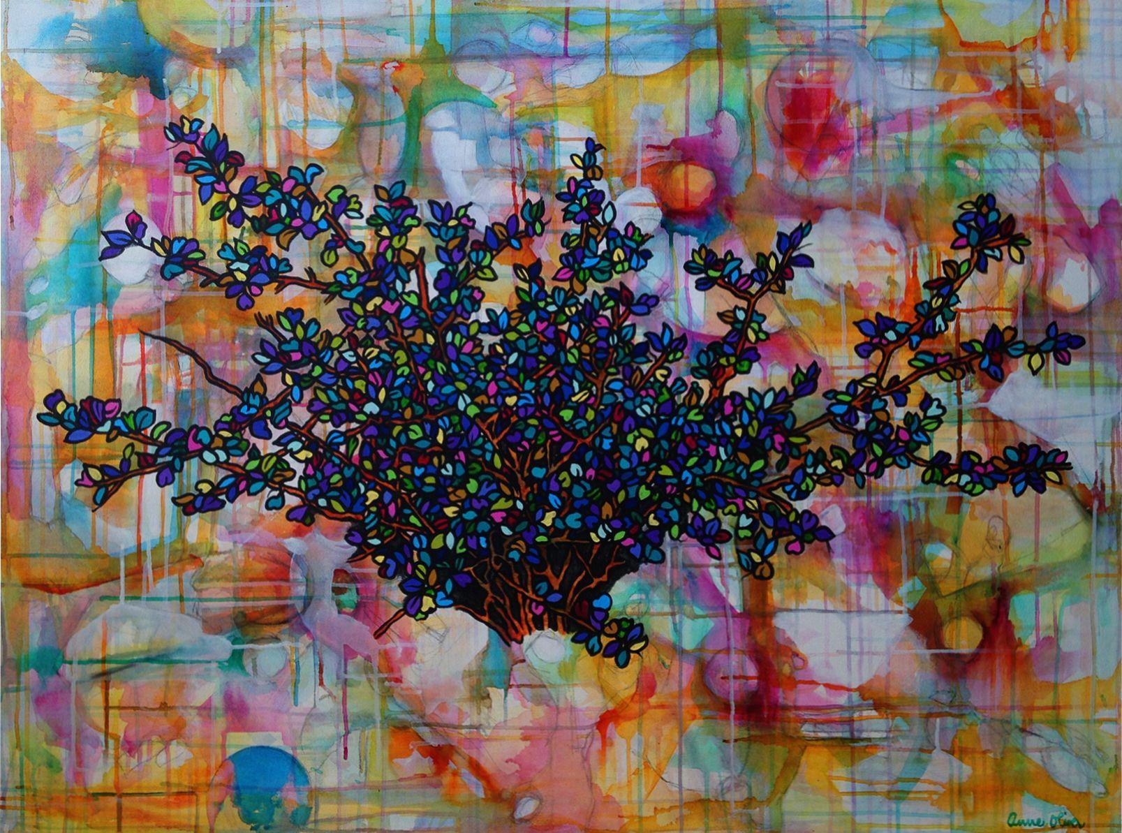 Secret Garden II, Painting, Acrylic on Canvas