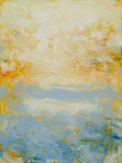 Beach Series III, Abstract Seascape Painting, Oil on Canvas, Signed
