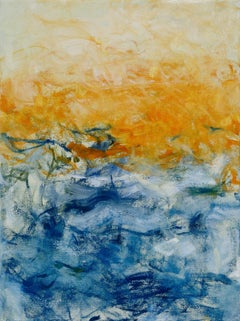 Beach Series IV, Abstract Seascape Painting, Oil on Canvas, Signed