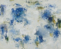 Blue May, Abstract Skyscape Painting, Oil on Canvas, Signed