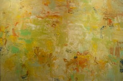 Improvisation II, Abstract Oil Painting on Canvas, Signed