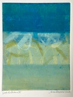 Into The Distance III, Abstract Monotype on Paper, Signed
