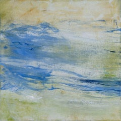 Low Tide Series I, Abstract Seascape Oil Painting on Canvas, Signed