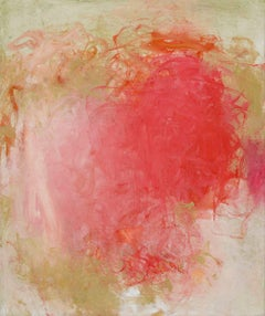 Red February IV, Abstract Painting, Oil on Canvas, Signed
