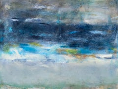 Storm Passing, 2021, Abstract Oceanscape, Oil Painting on Canvas, Signed