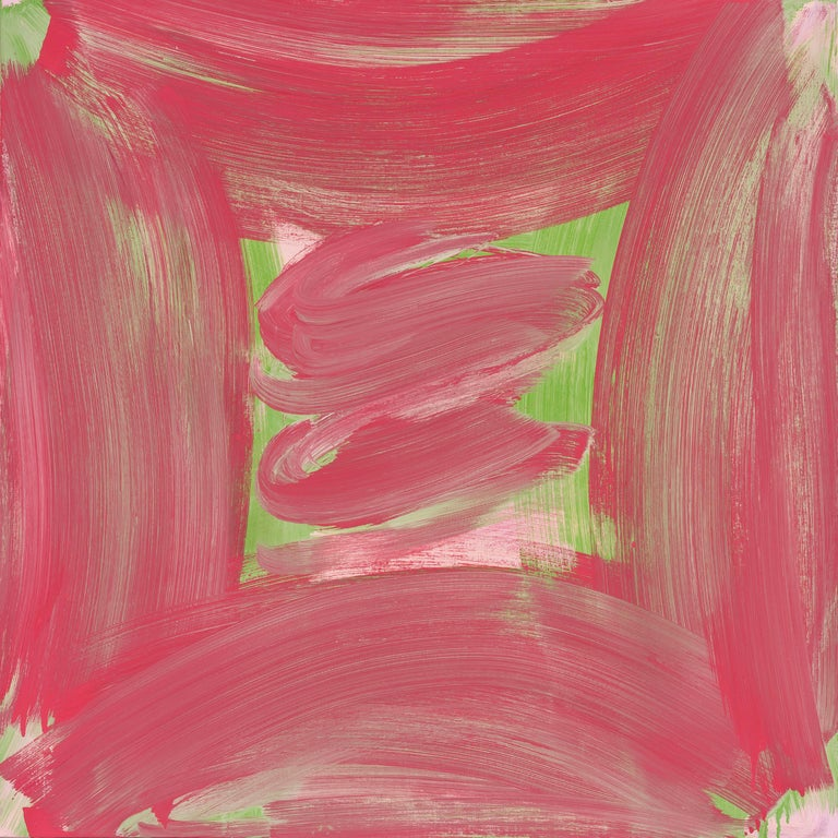 Anne Russinof, Amaryllis, 2016, Oil on canvas, Color Field, Abstraction - Painting by Anne Russinof