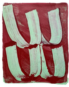 Anne Russinof,  Gestural 1, 2019, Acrylic, Monotype, Color Field, Abstraction