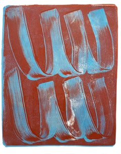 Anne Russinof,  Gestural 13, 2019, Acrylic, Monotype, Color Field, Abstraction