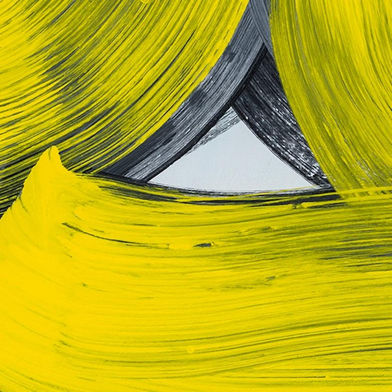 Anne Russinof, Persian 2, 2018, Oil on canvas, Color Field, Abstraction - Yellow Abstract Painting by Anne Russinof