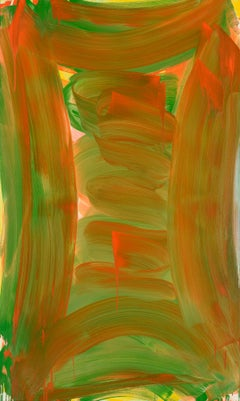 Anne Russinof, Tall Vault 2015, Oil on canvas, Color Field, Abstraction