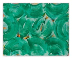 Green Whirl (Abstract painting)