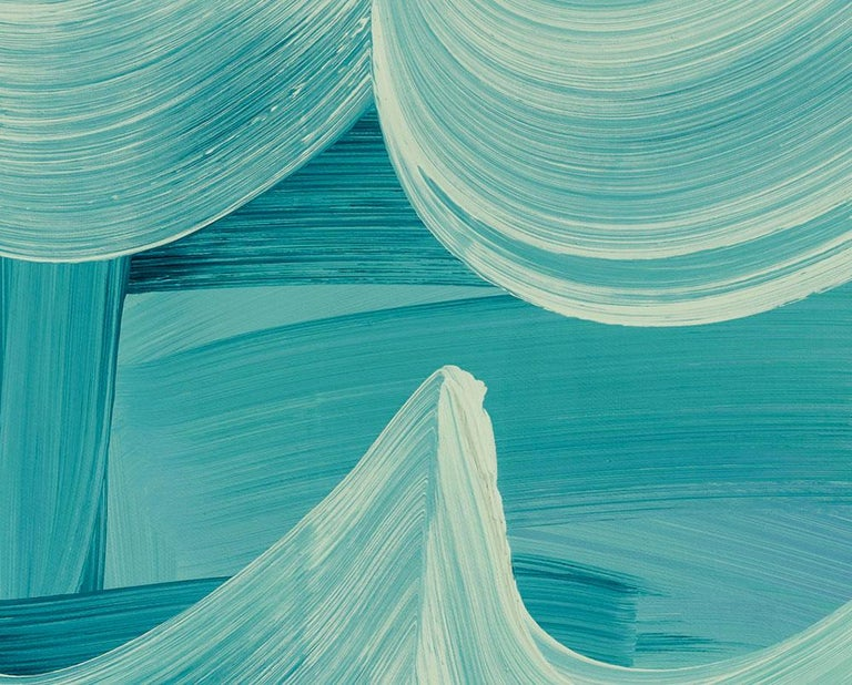 Lift Off (Abstract painting) - Blue Abstract Painting by Anne Russinof