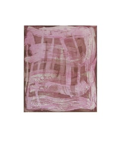 """Serpentine 2"", gestural abstract aquatint monoprint, sanguine, rose pink."