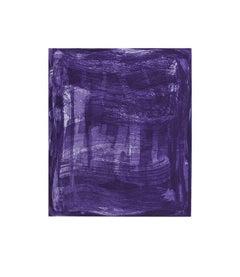 """Serpentine 4"", gestural abstract aquatint monoprint, shades of blue, violet."