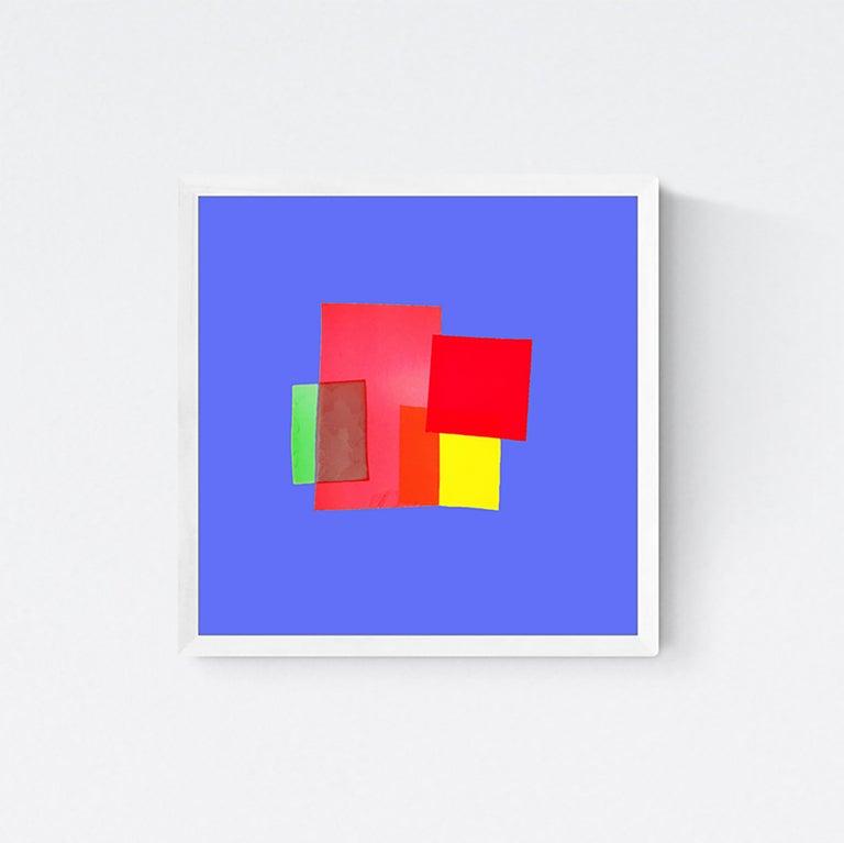 "Anne Senstad Abstract Print - Soft Geometry ""Faktura #06"" Photographic C Print, Framed Concrete Art"