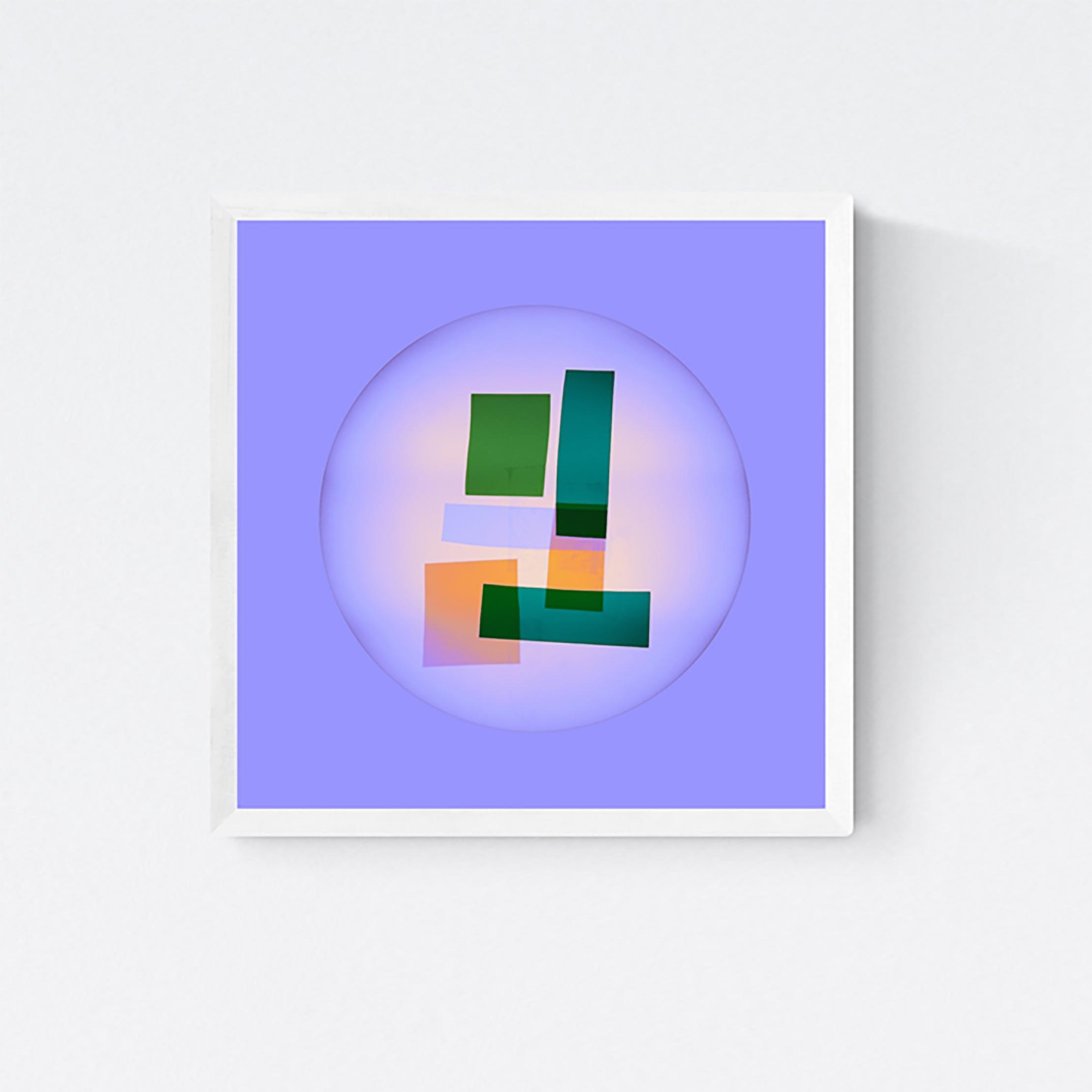 "Soft Geometry ""Faktura #11a"" Photographic C Print, Framed Concrete Art"