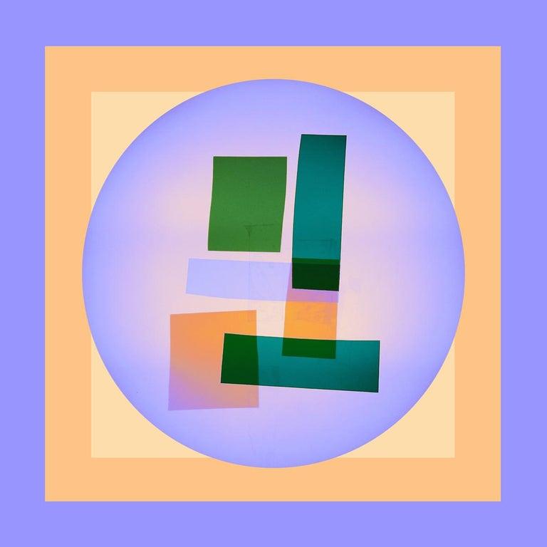 "Anne Senstad Color Photograph - Soft Geometry ""Faktura #11c"" Photographic C Print, Framed Abstract Concrete Art"