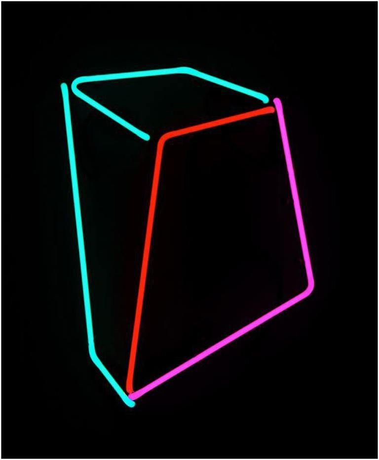 Soft Geometry Neon #011 - Sculpture by Anne Senstad