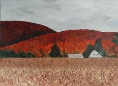 Harvest Season, Painting, Acrylic on Canvas