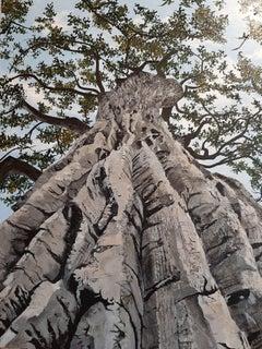 Magnificent Poplar Tree, Painting, Acrylic on Canvas