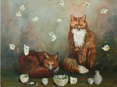 Foxes and Bowl