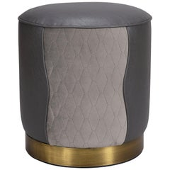 Anne Stool with Brushed Copper