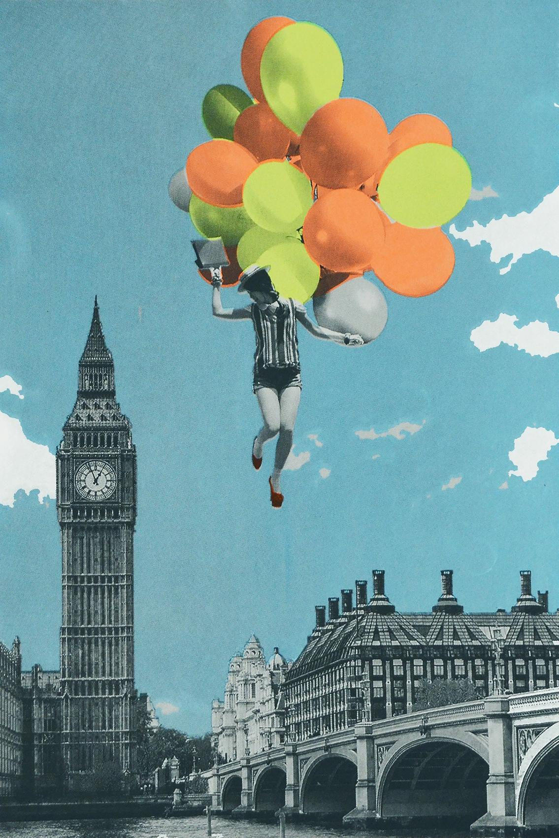 Anne Storno, Balloons, Limited Edition Print, Surrealist Inspired Art,