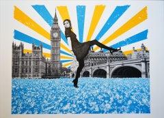 Anne Storno, London Stride, Affordable Art, London Print, Surrealist Print