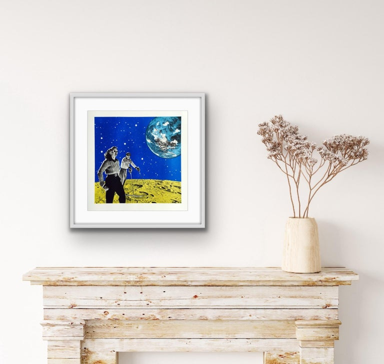 Anne Storno, Space Hiking, Limited Edition Print, Space Print, Affordable Art For Sale 8