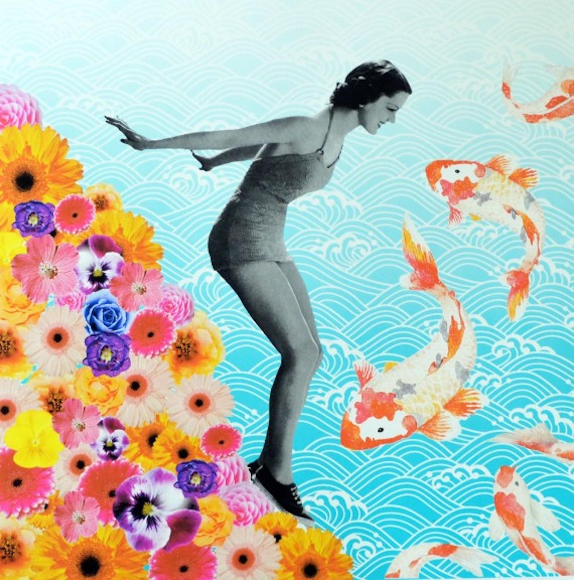 Anne Storno, Water Baby, Affordable Art, Colourful Art Limited Edition Print