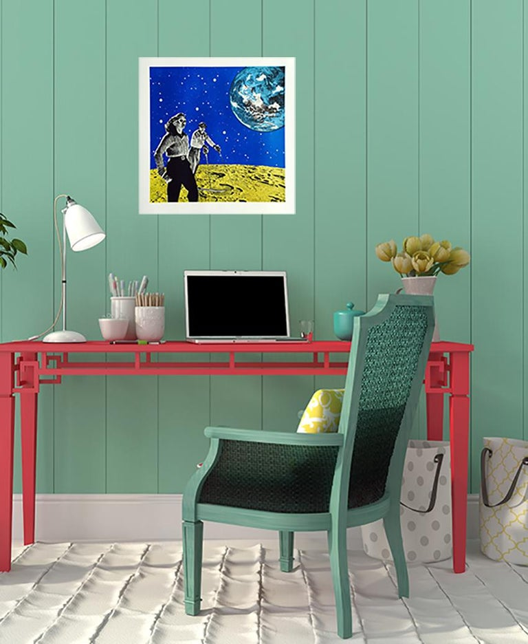 Space Hiking, Limited Edition Print, Anne Storno, Space Print, Sports, Galaxy For Sale 1