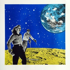 Space Hiking, Limited Edition Print, Anne Storno, Space Print, Sports, Galaxy