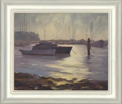 Anne Tams - 2011 Oil, Moored Boats