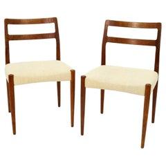 'Anne' Teak Dining Chairs by Johannes Andersen for Uldum Mobelfabrik