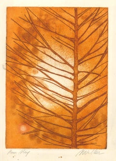 Leaf - Original Etching by Anne Walker - Late 20th Century