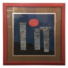 Anne Youkeles Ancient Columns II Serigraph