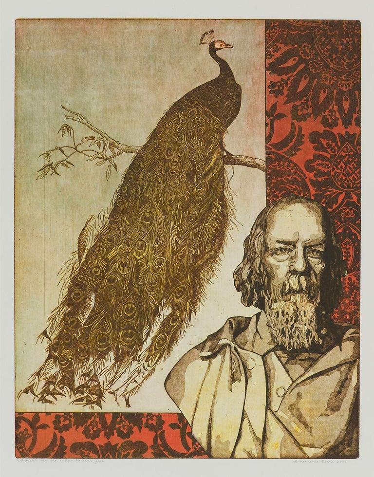 """Annemarie Petri - """"Interior of an Melancholic"""" - peafowl bird - edition size 25 - Print by Annemarie Petri"""