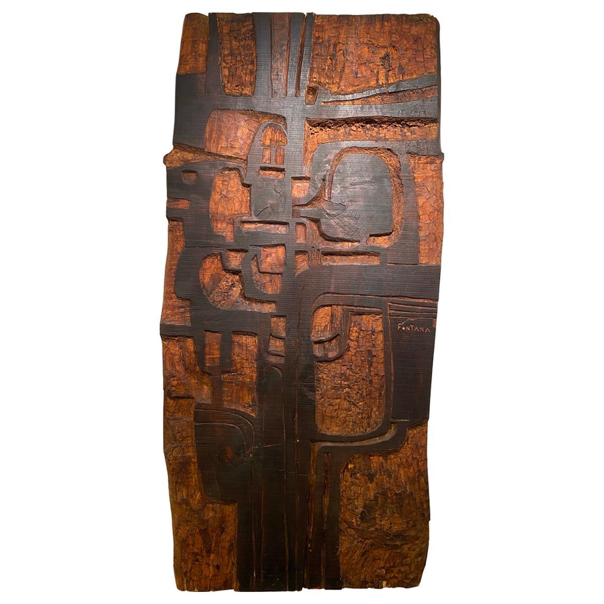 Annemie Fontana Wood Panel Sculpture, 1970s