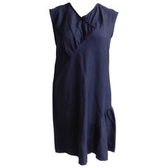 Annemie Verbeke Black Silk/Cotton/Cashmere Dress