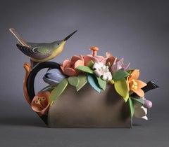 Hummingbird with Flowers Teapot
