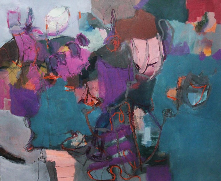 21a96a467 Annette Jellinghaus. Connections - Large Abstract landscape contemporary  floral painting