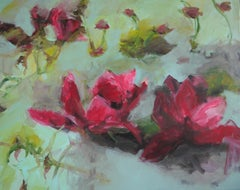 Flowers by Annette Jellinghaus - Abstract contemporary floral landscape painting