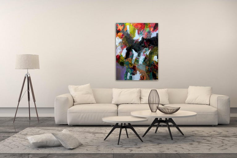Nature's Depth by Annette Jellinghaus - Abstract contemporary floral landscape For Sale 5