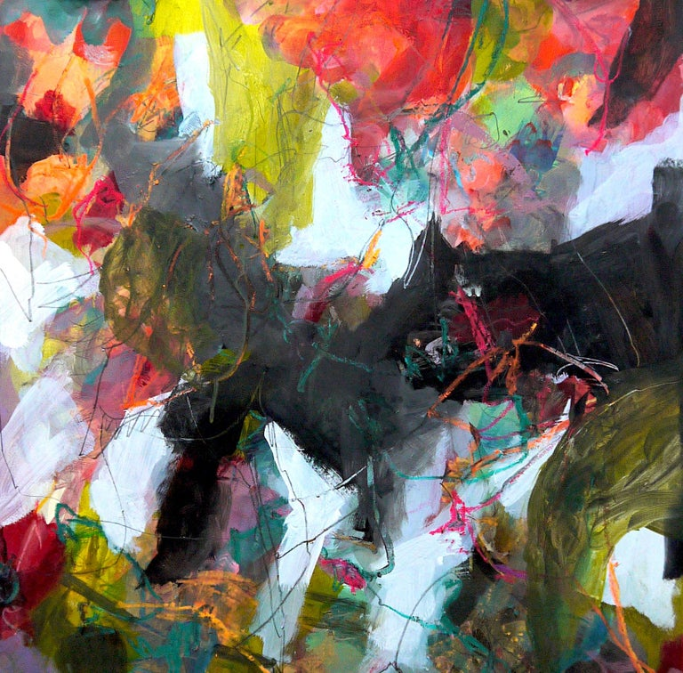 Nature's Depth by Annette Jellinghaus - Abstract contemporary floral landscape For Sale 3