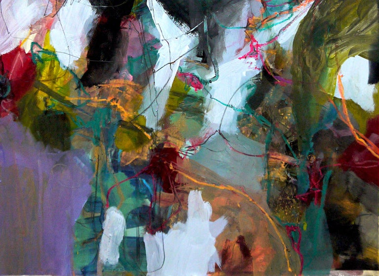 Nature's Depth by Annette Jellinghaus - Abstract contemporary floral landscape For Sale 4