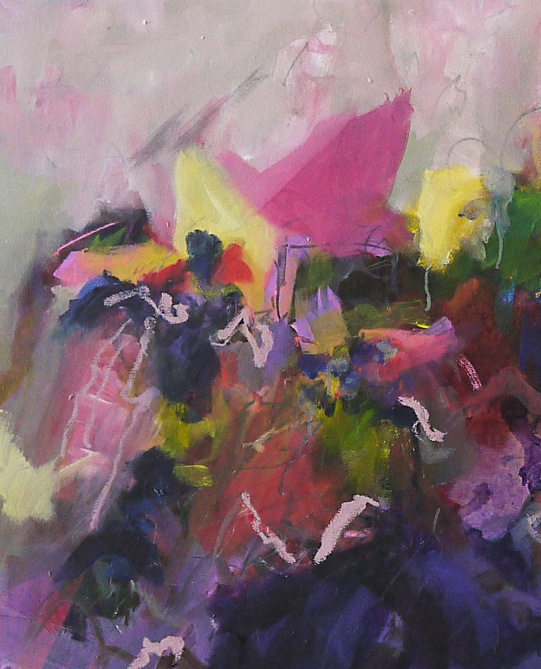 Black Blue Contemporary Abstract Pink   Annette Jellinghaus works are vibrant and colourful abstract paintings full of joy and happiness. Through using a variety of colours they adapt to many different interiors and add movement and life to a space.