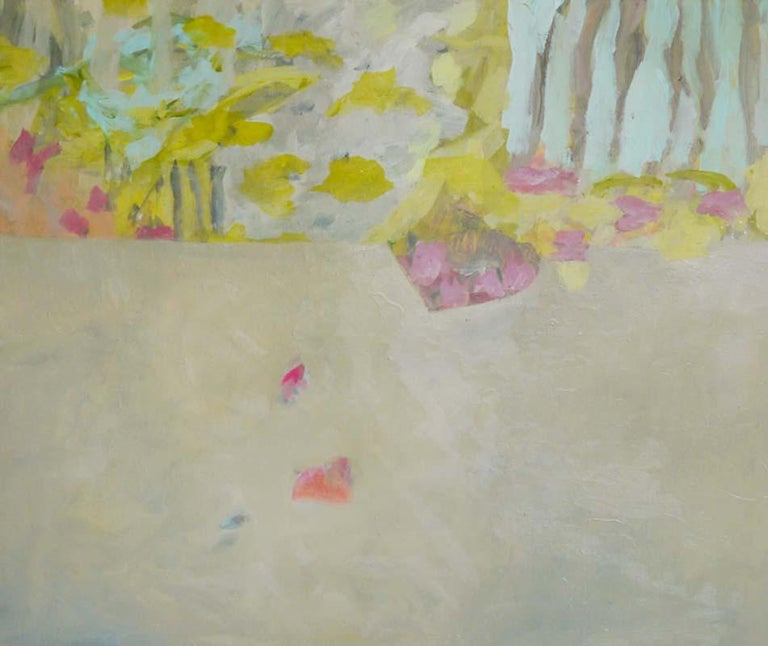 Annette Jellinghaus Interior Painting - Soft Awakening - colorful Abstract landscape / contemporary  floral painting