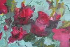 Water Lillies by Annette Jellinghaus - Large contemporary landscape painting