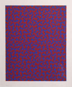 GR I, Eclat Pattern, Silkscreen by Anni Albers 1970